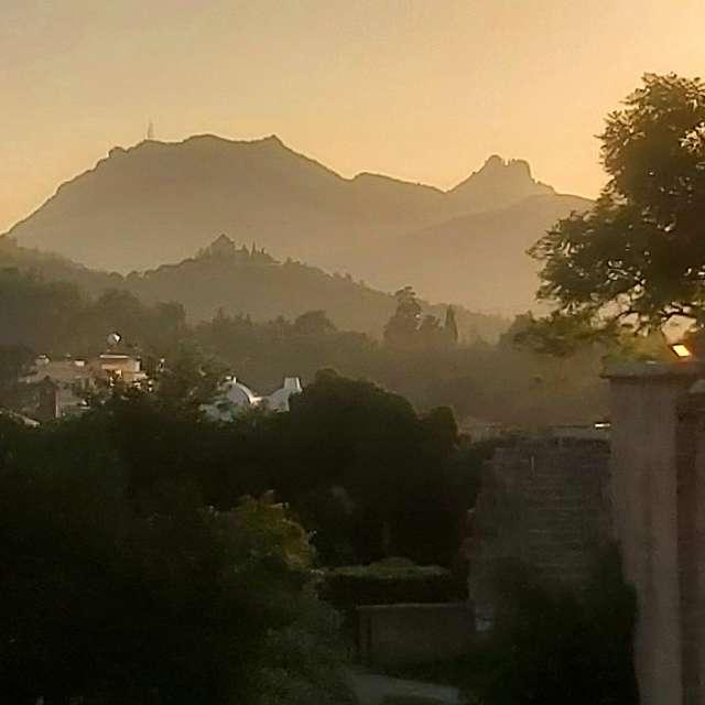 Sunset Bellapais Monastery