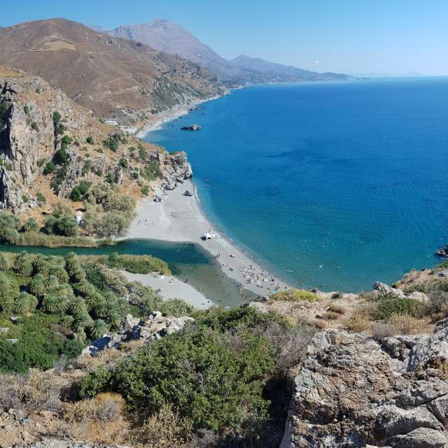 Preveli beach, Crete, Greece