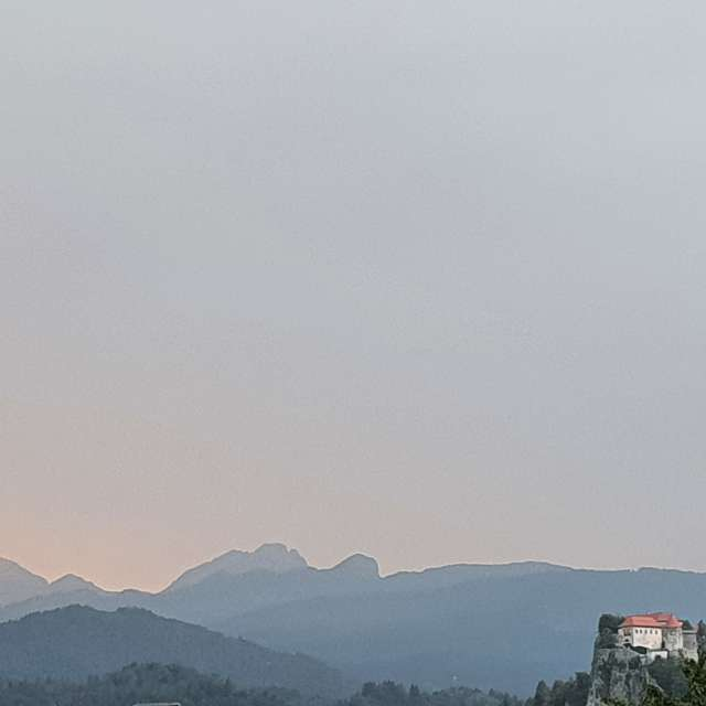 Bled castle before dusk