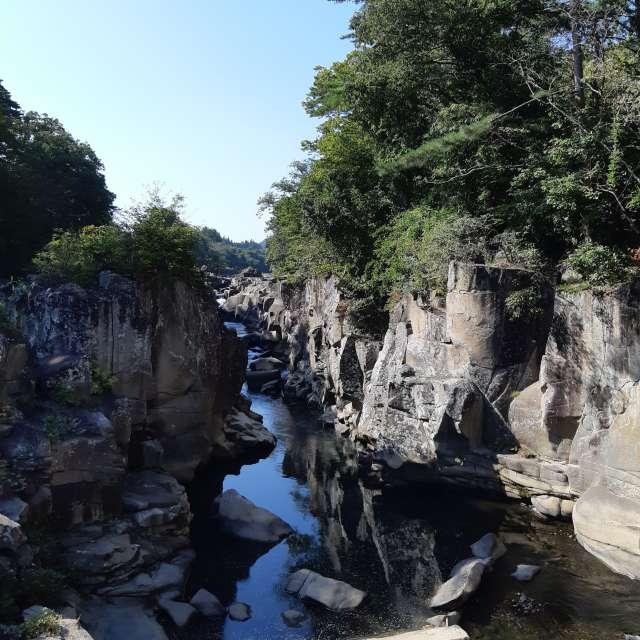 厳美渓に行きました