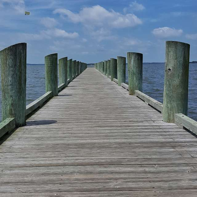 Pier on Summer day