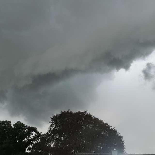 Gewitter mit Starkregen