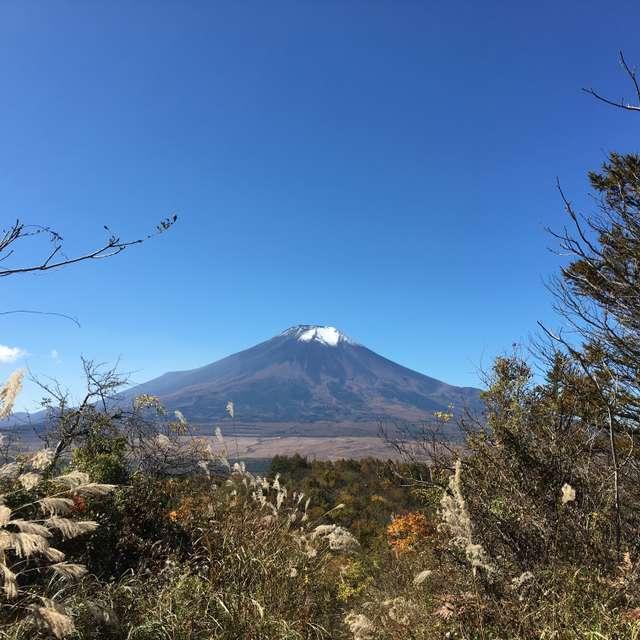富士山と秋空