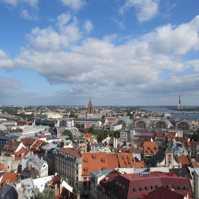 Панорама города Рига