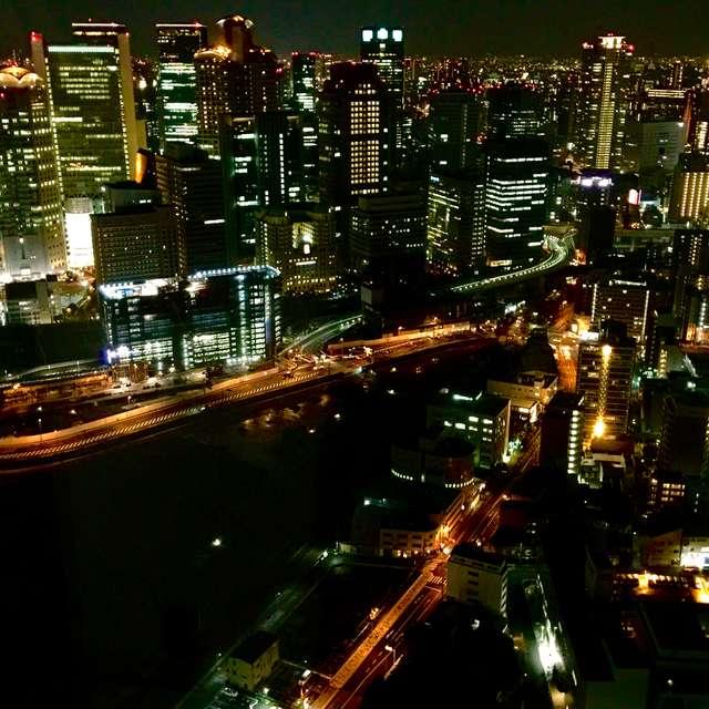 梅田スカイビルの夜景