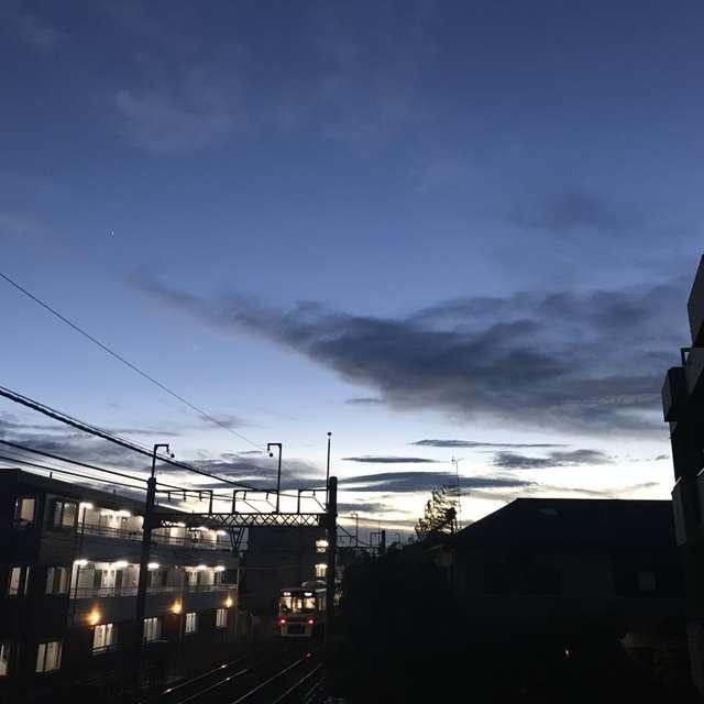 夕暮れの雲もまた魅力的