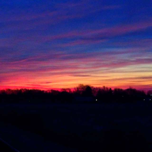 Rainbow-colored Sunrise