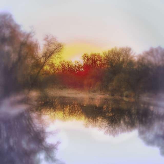 The setting sun 1.