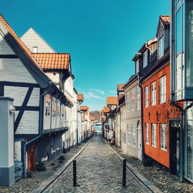 Sunny day in Flensburg