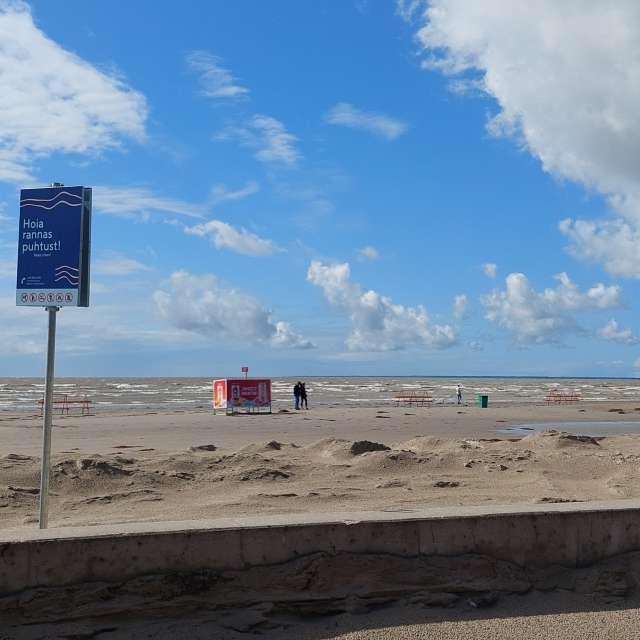 Pärnu Beach after storm