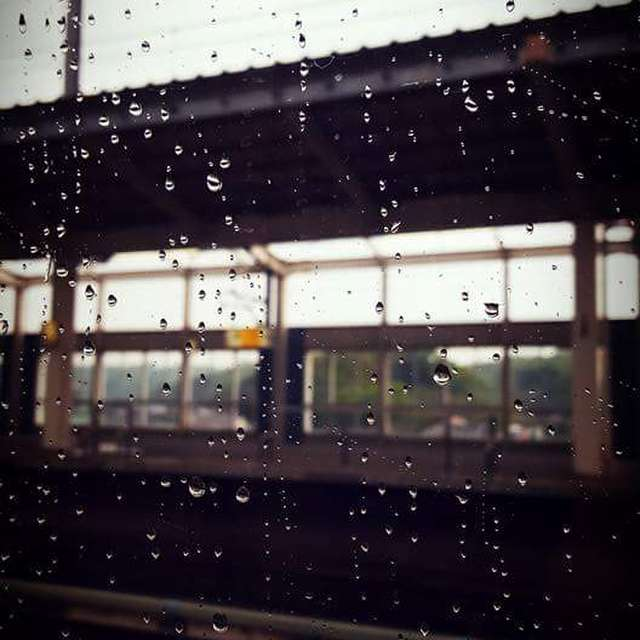 新幹線の扉の窓から。