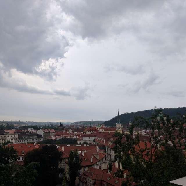 Beauty of Praha city, cloudy.